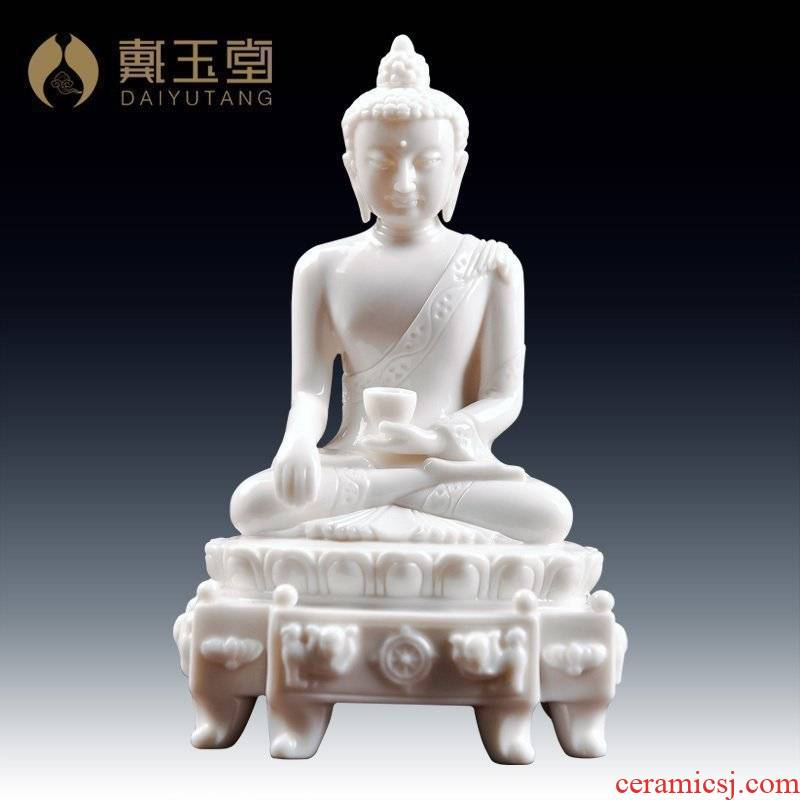Yutang dai ceramic Buddha handicraft furnishing articles to/Leo shakyamuni Buddha temple D44-35 a