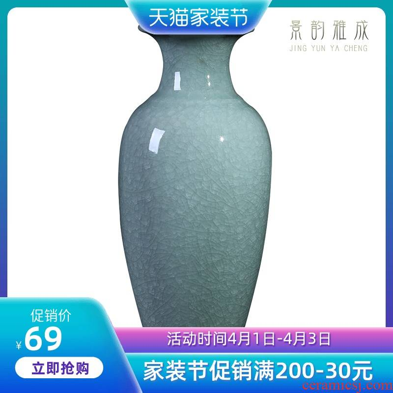 Jingdezhen ceramic vases, small and pure and fresh decoration lucky bamboo vases, flower arranging furnishing articles I and contracted sitting room living room