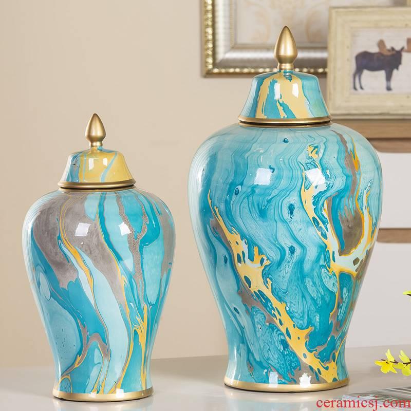 General European contracted tank ceramic vase furnishing articles home decoration wine cabinet TV ark adornment handicraft