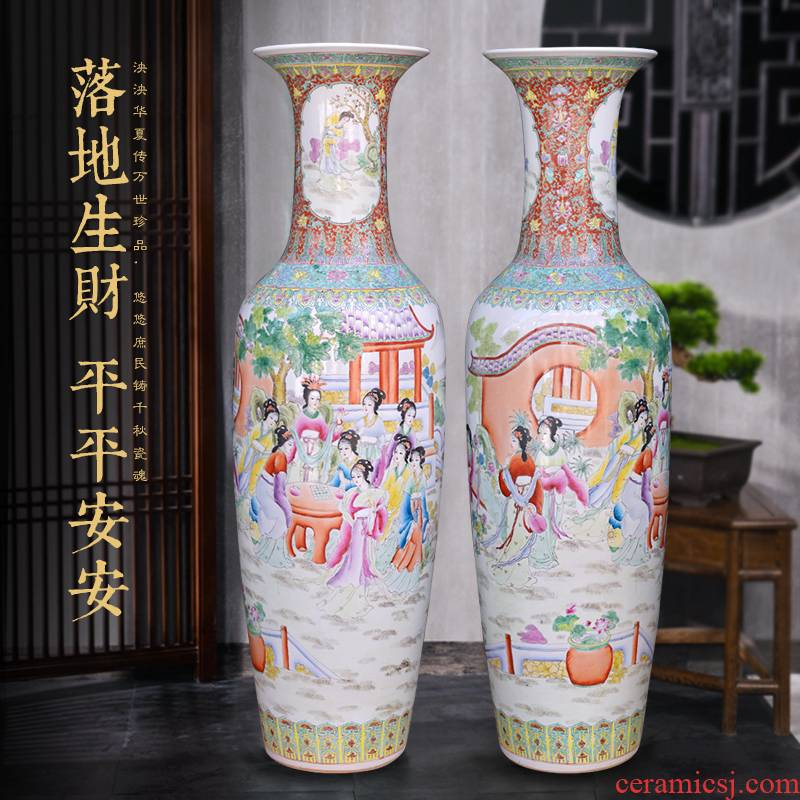 Jingdezhen ceramics hand - made beauty of large vase decoration to the hotel opening party furnishing articles customized gifts