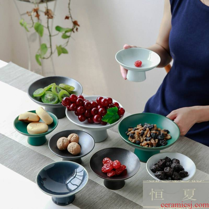 Tea tray was fine dessert plate vintage Chinese zen snack plate special ceramic compote of fruit for the annual Chinese New Year holiday