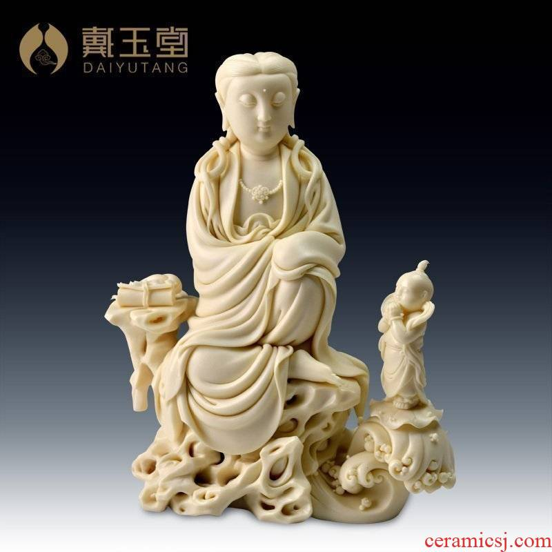 Yutang dai Lin Jiansheng master ceramic its art collection/by rock boy worship goddess of mercy corps D03-221