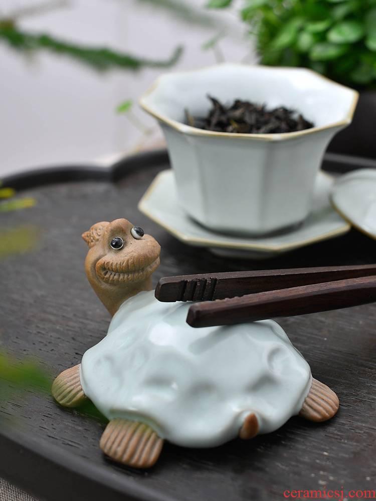 Your up tea pet furnishing articles of kung fu tea accessories ceramics play purple sand tea tea xuan turtle beautiful home