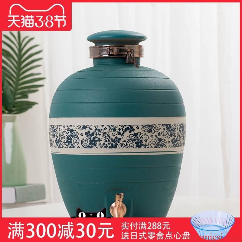 Jingdezhen ceramic wine jar home 20/50/100 jins special seal with tap water expressions using mercifully wine jars
