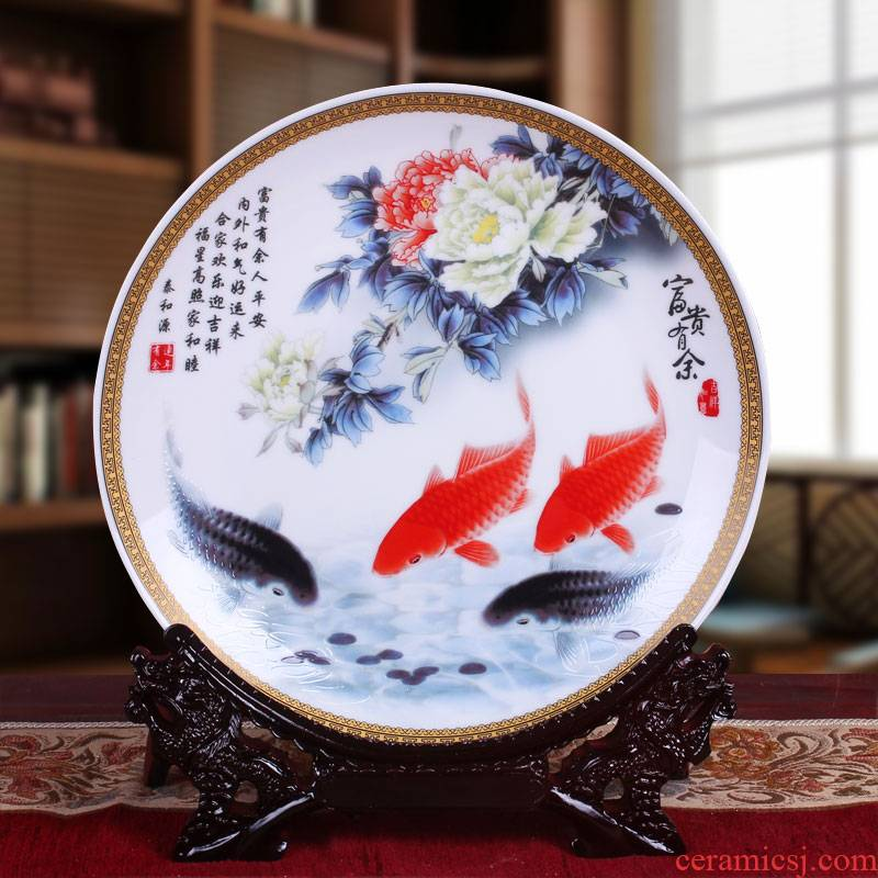 Jingdezhen ceramics well - off hang dish decorated sat dish sitting room of I and contracted style home furnishing articles
