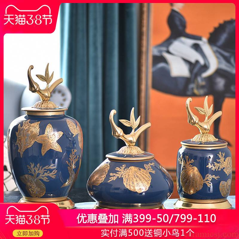 European household copper deserve to act the role of the sitting room is between example ceramic storage tank furnishing articles present creative TV ark, copper decoration