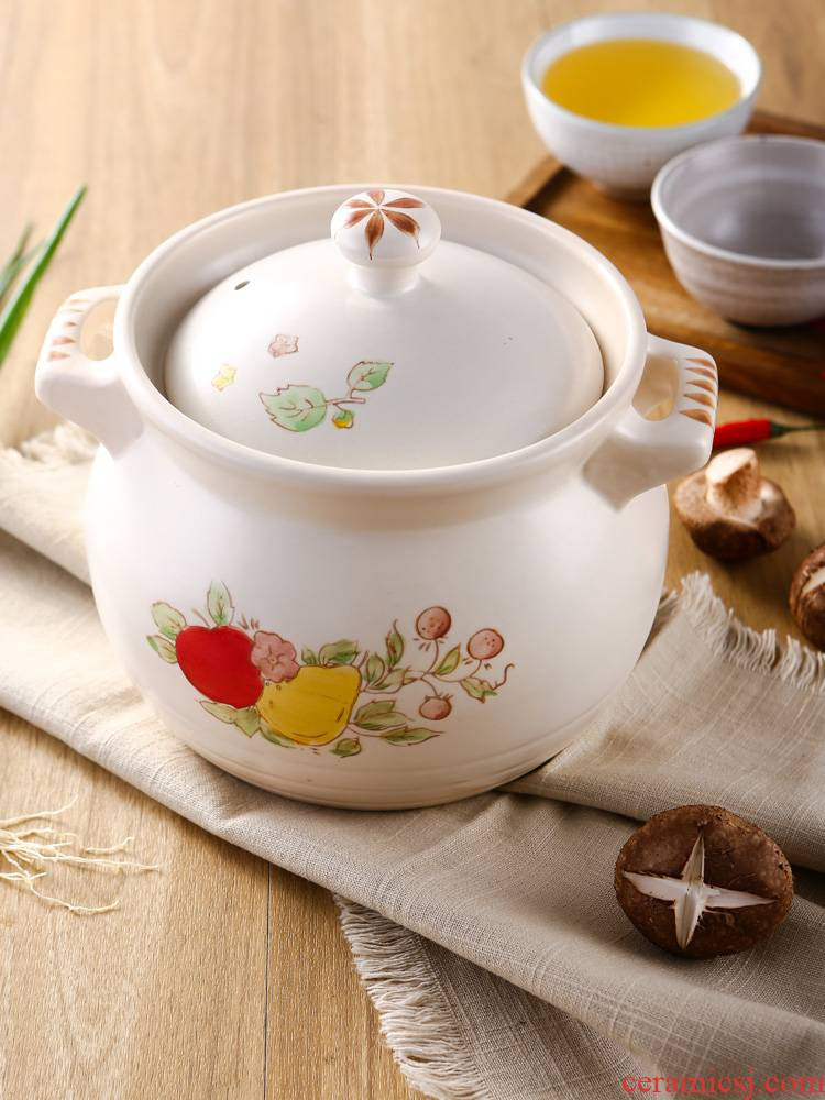 Casserole stew household gas ceramic flame soup pot heat to hold to high temperature pot soup cooked porridge pacify the an earthenware pot