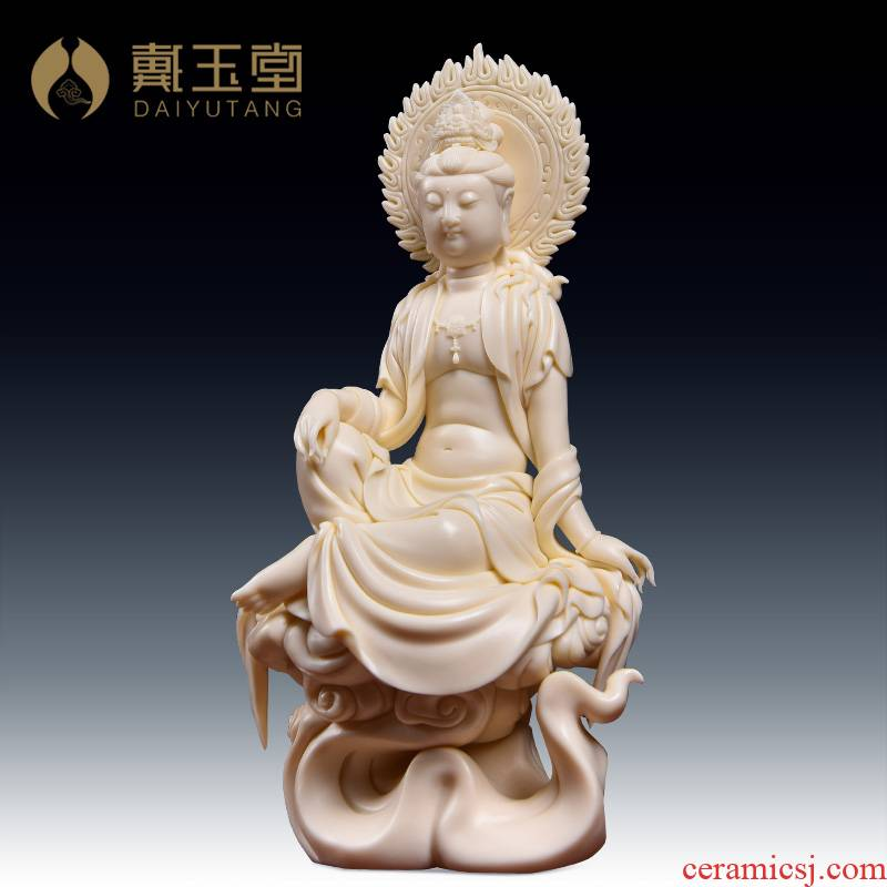 Yutang dai Lin Jiansheng master for dehua porcelain ceramic Buddha furnishing articles xiangyun screen goddess of mercy corps/D03-108