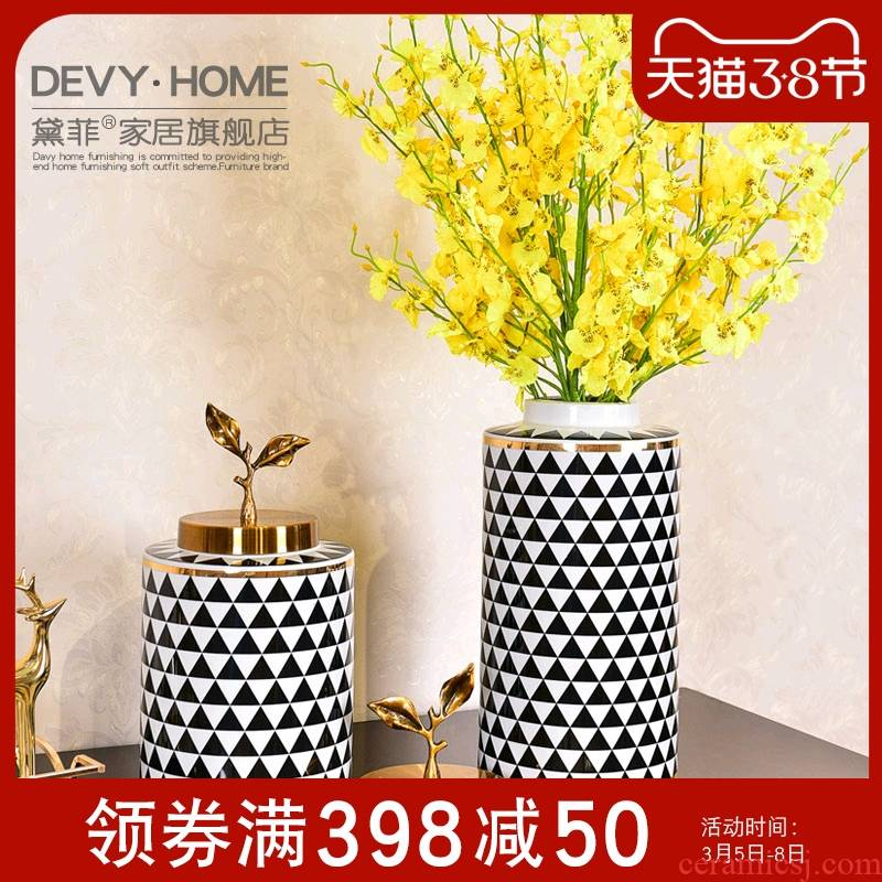 American light key-2 luxury ceramic vase furnishing articles Angle of several TV ark, household act the role ofing is tasted, the sitting room porch decoration decoration