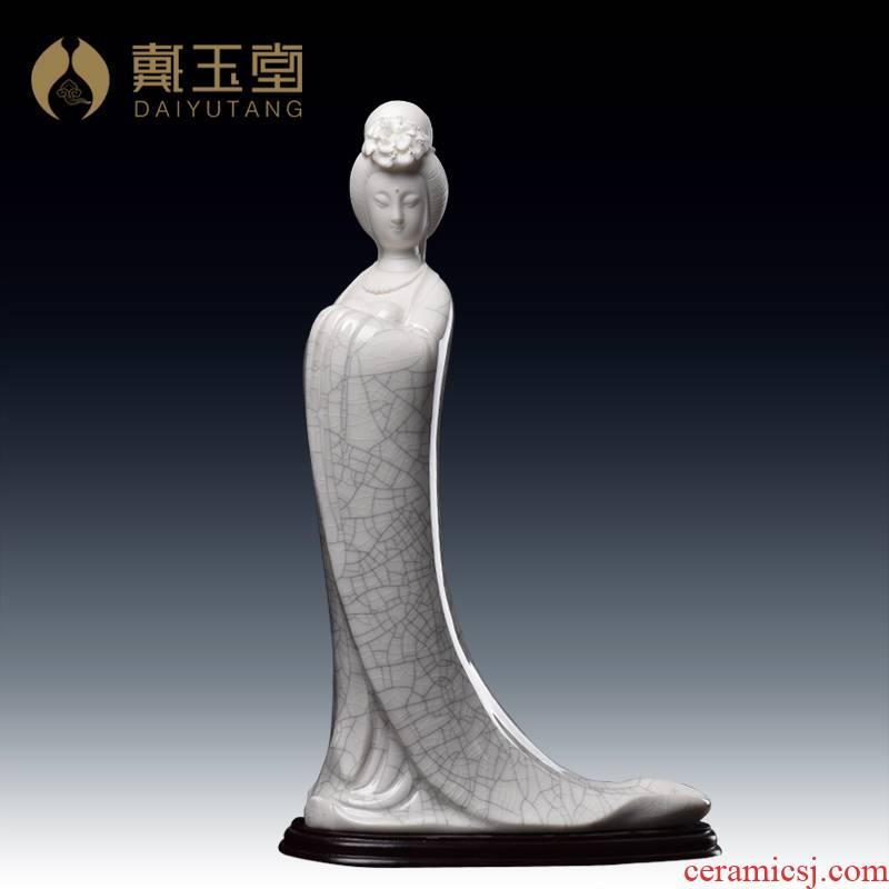 Yutang dai dehua ceramic pieces of ice to crack open the master Su Xianzhong ceramics collection work place Yang