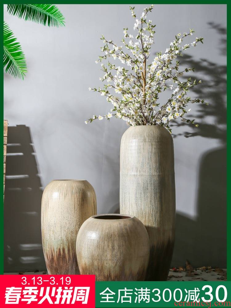 Jingdezhen villa clubhouse theme template ceramic vase vases, flower, flower implement be born between sitting room furnishing articles