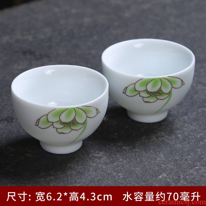 Dehua white porcelain ceramic tea set with silver cup cup silver cup set master coppering. As white silver cup China arts and crafts