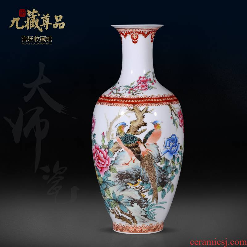 The Master of jingdezhen ceramic hand - made powder enamel bottles of Chinese style living room porch TV ark, flower arranging, adornment is placed