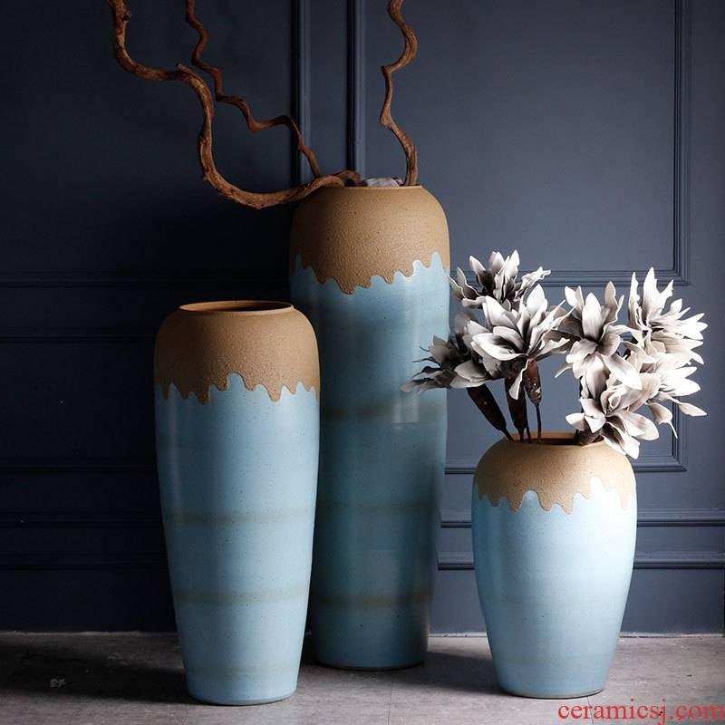 Jingdezhen sitting room of large vases, contracted and I American European ceramic decorative furnishing articles courtyard garden flowerpot