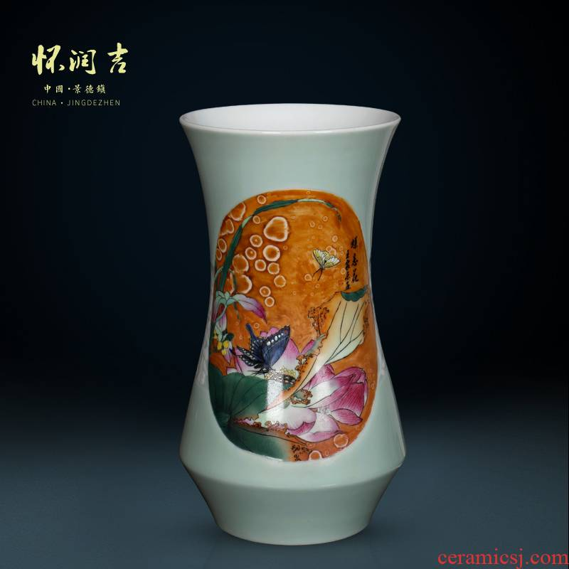 Jingdezhen vase hand - made antique vase statute of recent modern Chinese style household, sitting room porch decorate furnishing articles