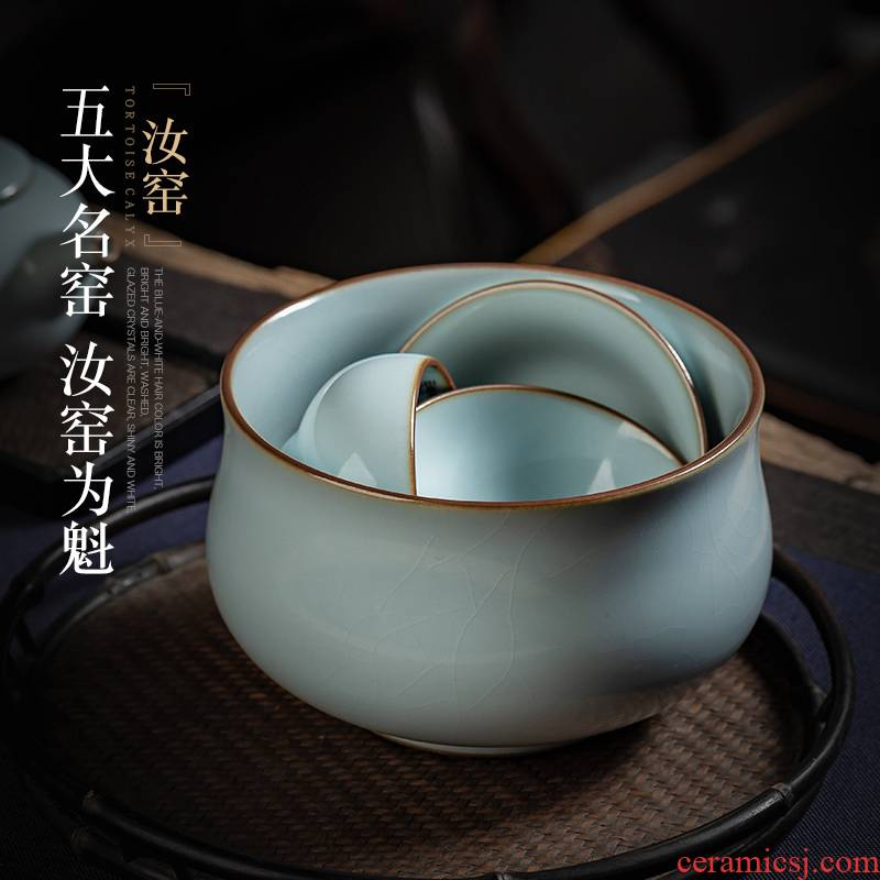 Jingdezhen ceramics by hand to open the slice your up tea wash in hot dry tea table cylinder washing water jar kung fu tea accessories