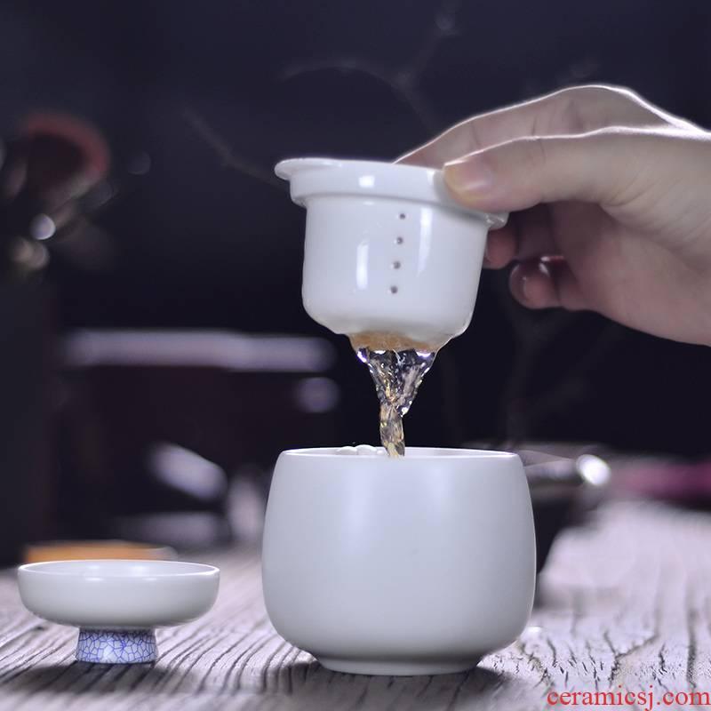 Public remit enjoy private belt filter cups a pot of a crack cup white office travel tea set ceramic sample tea cup