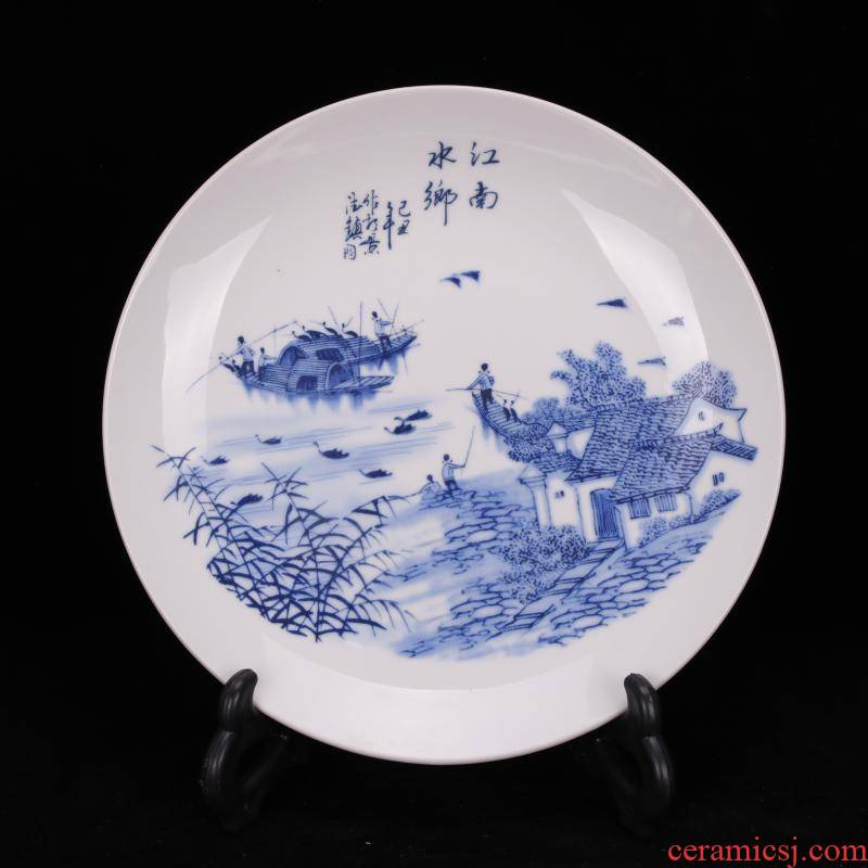 Archaize of jingdezhen porcelain com.lowagie.text.paragraph the qing qianlong jiangnan porcelain plate of Chinese style restoring ancient ways household adornment furnishing articles