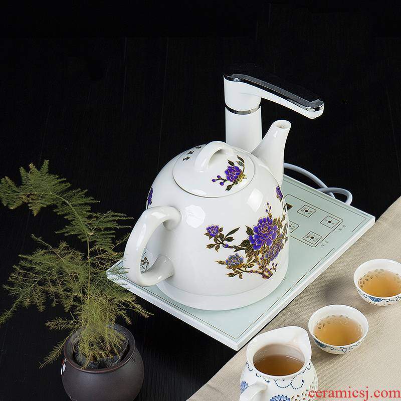 Ronkin kettle boil tea is hot water boiler intelligent electromagnetic tea stove pumping water automatic ceramic kettle