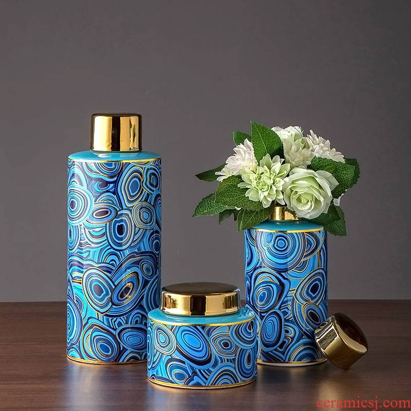 Light the key-2 luxury of mesa ceramic vase household act the role ofing is tasted furnishing articles ceramic vase vase household act the role ofing is tasted the study sitting room adornment