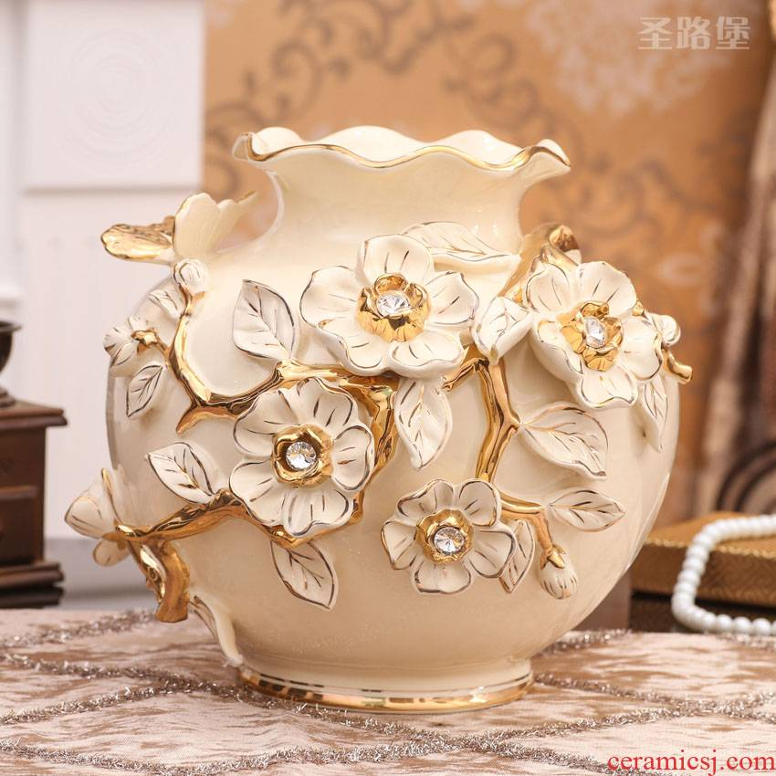 European vases, ceramic desktop furnishing articles sitting room big vase household decorations creative wedding present for girlfriends
