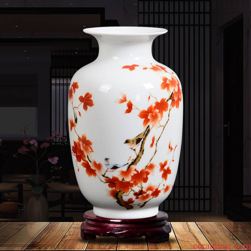 Send the base d324 jingdezhen ceramics vase household act the role ofing is tasted furnishing articles flower arranging, living room decoration