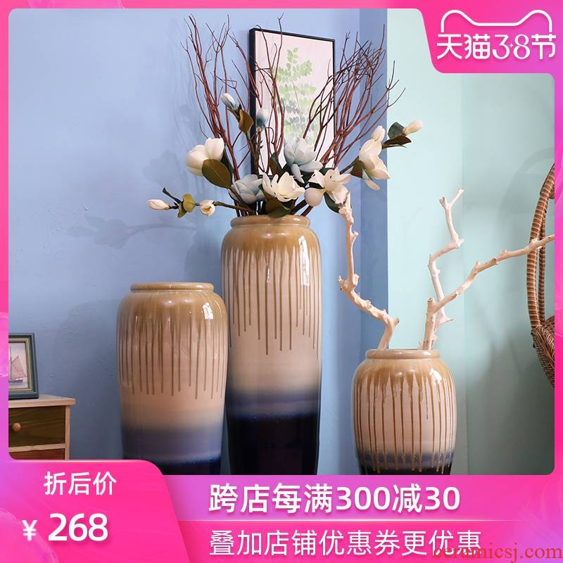 Modern jingdezhen ceramic vase of large indoor and is suing landscape decoration hotel sitting room of Chinese style flower implement furnishing articles
