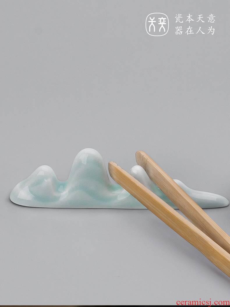 """""""Cloud"""" yi ceramics jingdezhen day ChaGa shelf ChaZhen tea fittings on furnishing articles kung fu tea set"""