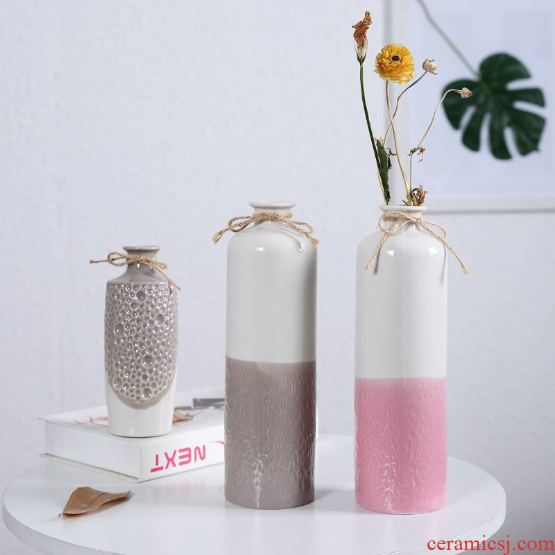 Without hole, hydroponic indoor ceramic vase desktop furnishing articles decorative vase dried flowers flowers all over the sky star, ceramic vase