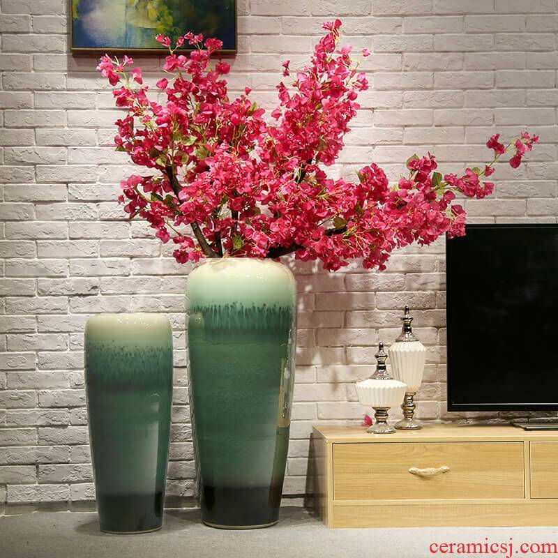 Sitting room decoration to the hotel villa large vase ceramic flower implement club teahouse flower simulation flower decoration furnishing articles