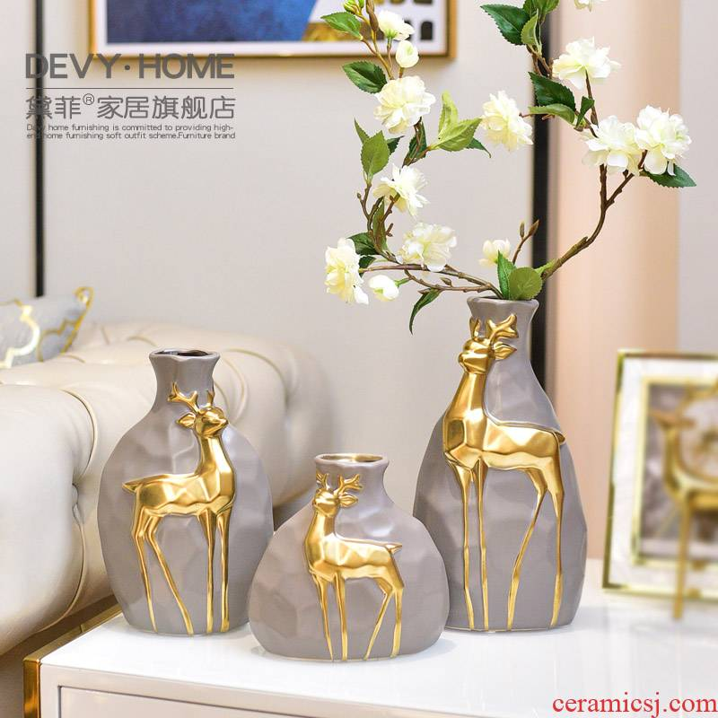 I and contracted vase creative furnishing articles sitting room porch ark, ceramic light much American TV ark, home decoration