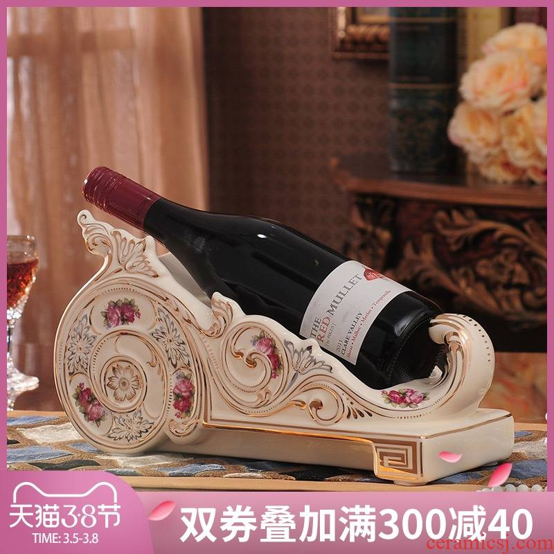 European wine rack furnishing articles household act the role ofing is tasted wine sitting room decorate ceramic wine wedding gift ideas and practical