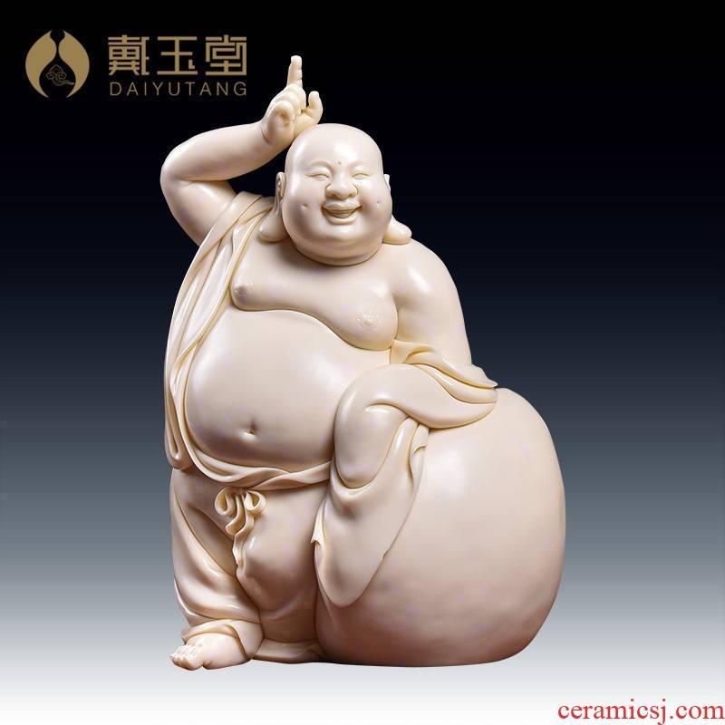 Yutang dai boutique works dehua porcelain carving jade huang maitreya Lin Jiansheng masters/D03-168 e