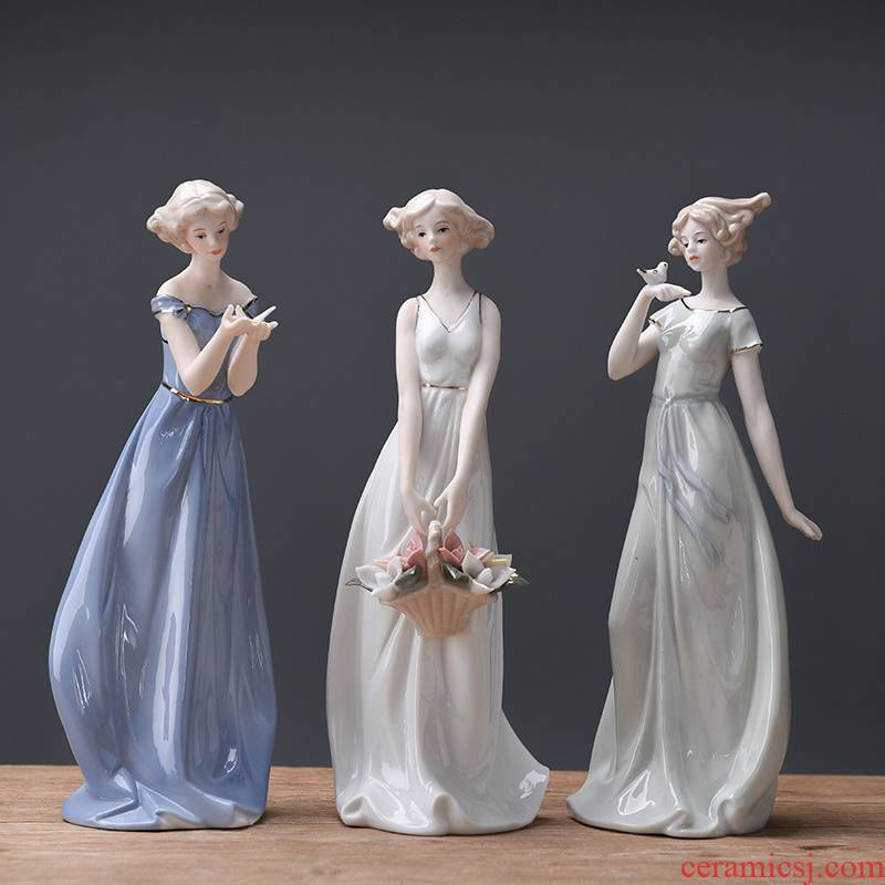 European ceramic figures furnishing articles household act the role ofing is tasted the wine TV ark, sitting room adornment creative new wedding wedding gift