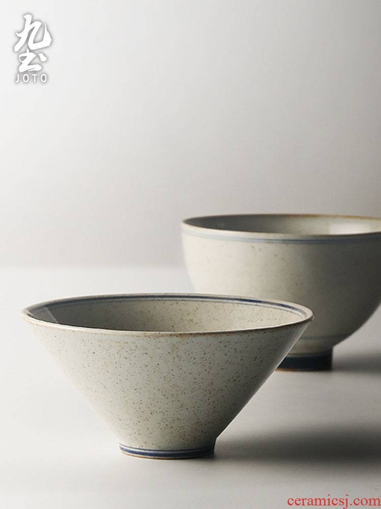 About Nine soil blue - and - white porcelain bowl home eat insulation noodles in soup bowl hand Japanese crude earthenware bowl feeder can microwave tableware