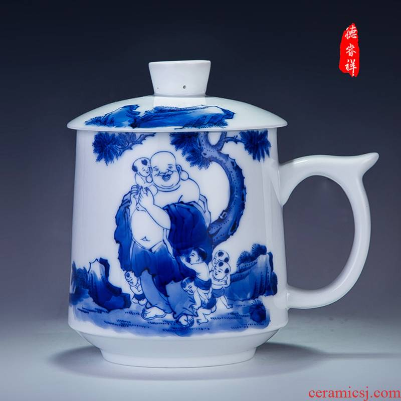 The New ipads China DE farce auspicious braking and glass ceramic cups with cover glass office cup business gifts
