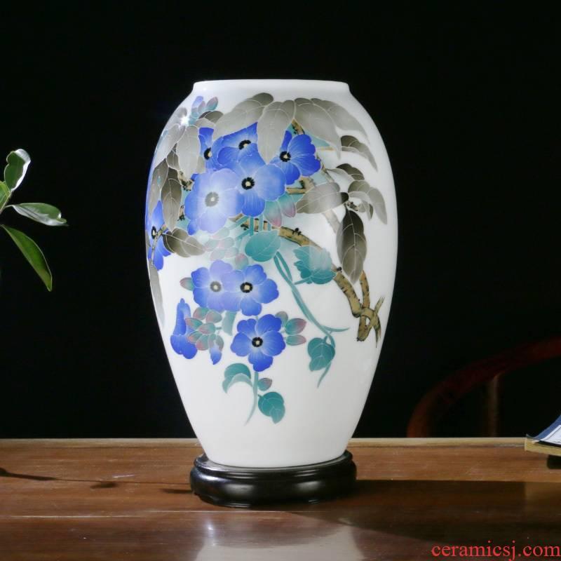 Porcelain good remit under the glaze color vase desk mesa of the sitting room porch ark, home furnishing articles liling Porcelain