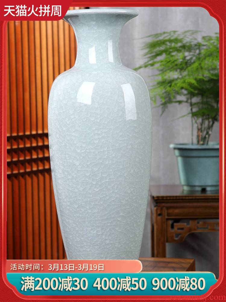 Jingdezhen ceramics place to live in the new Chinese style porch sitting room adornment large vases, ceramic crafts