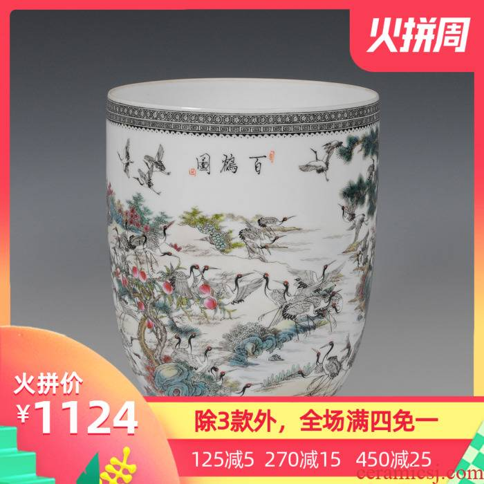 Jingdezhen ceramic vase porch place set adornment of I sitting room is contracted fashion Chinese antique furniture