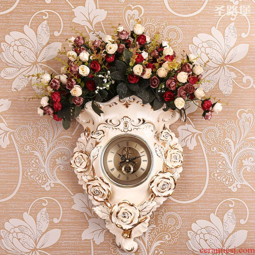 Fort SAN road new creative European ceramic wall hanging clock sitting room clock widget household act the role ofing is tasted wall act the role of mail