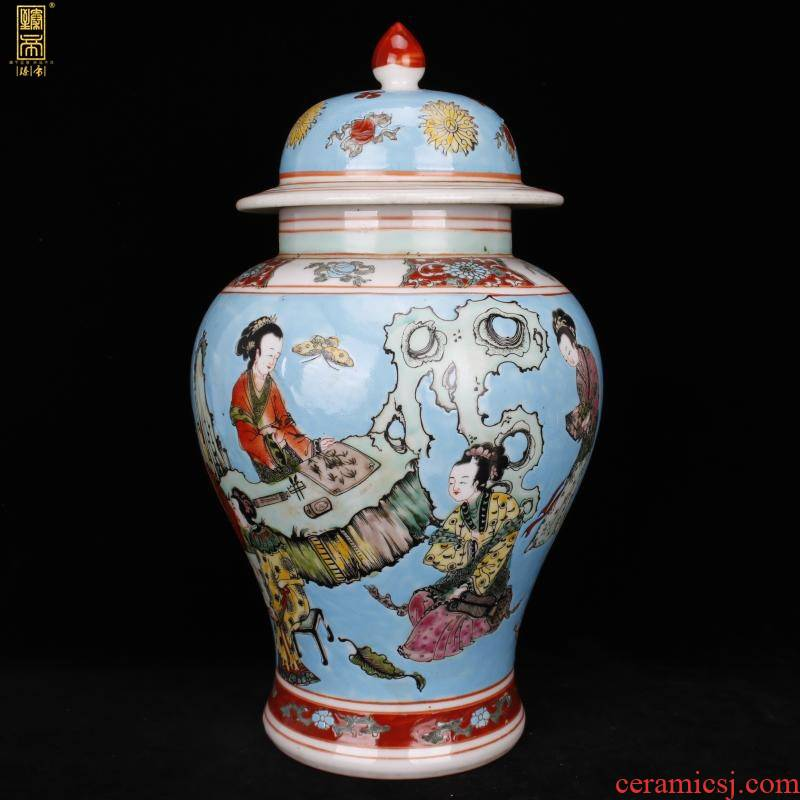Stories of jingdezhen imitation of the qing emperor kangxi pastel general tank Chinese antique reproduction antique old decorative furnishing articles