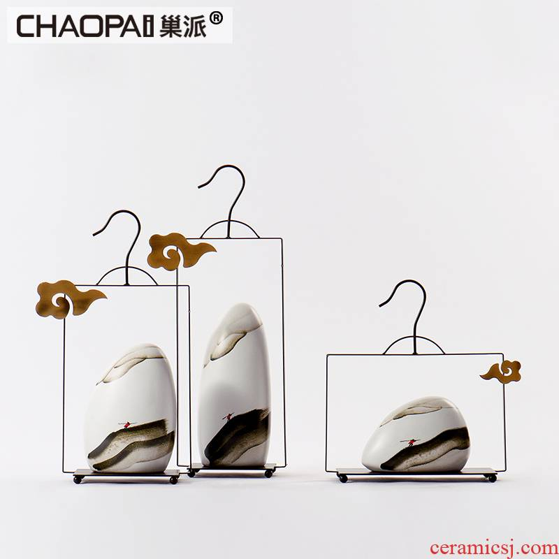 New Chinese style zen creative ceramic jewelry show porch soft assembly act the role of the sitting room place floor rich ancient frame
