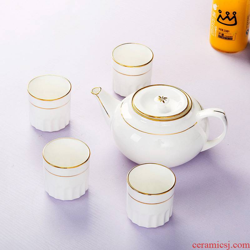 Jingdezhen ipads China tea sets up phnom penh suit household contracted ceramic cool water of a complete set of tea cups teapot