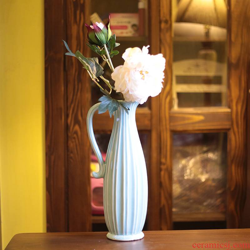 Cano all Mediterranean simulation table furnishing articles ceramic vase set household act the role ofing is tasted peony fall to the ground