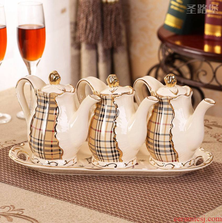 St way fort European creative decorative and practical kitchen furnishing articles European ceramic sauce pot seasoning jar package mail