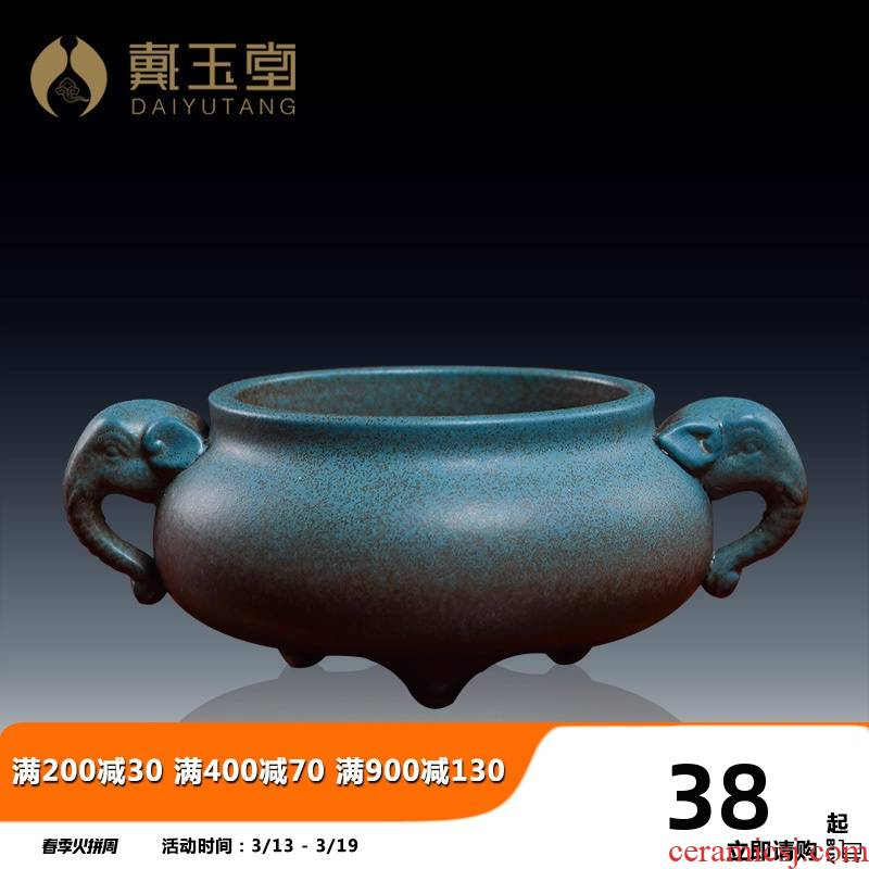 Yutang dai ceramic Buddha with supplies home for burn incense buner indoor buddhist temple consecrate Buddha incense inserted/like a furnace