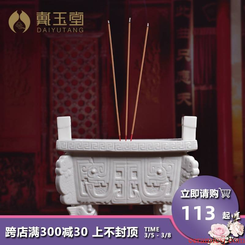 Yutang dai ceramic pot furnishing articles for buddhist incense incense incense inserted with indoor to creative joss stick'm burning incense buner