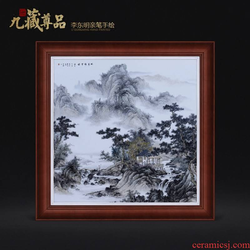 Jingdezhen ceramic dong - Ming li famous hand - made Lin Quanya will figure adornment porcelain plate paintings of Chinese style household decoration