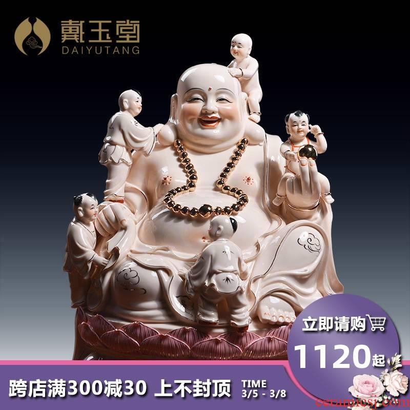 Yutang dai ceramic abital smiling Buddha maitreya Buddha sacrifice the adornment that occupy the home furnishing articles at home and heavily Buddha maitreya
