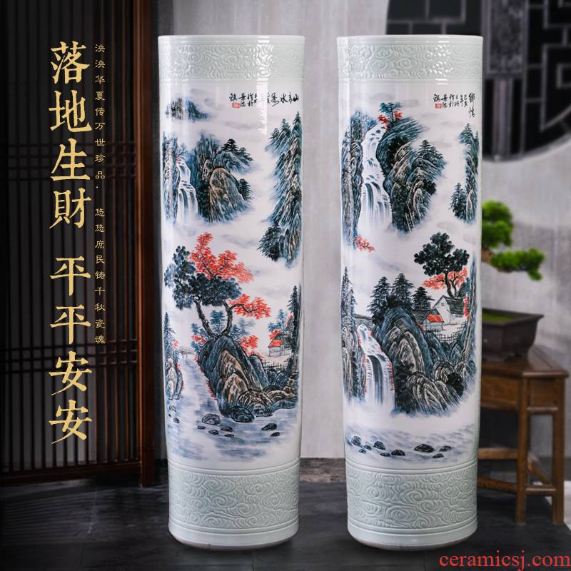 Jingdezhen ceramic hand - made family hotel company for the opening of large vase is placed in the mountains party custom gifts